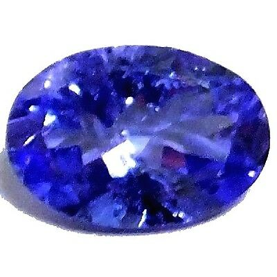 NATURAL TOP RICH BLUE TANZANITE LOOSE GEMSTONE (8.4 x 5.8 mm) OVAL (1.26 Cts)
