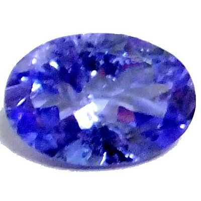 NATURAL TOP RICH BLUE TANZANITE LOOSE GEMSTONE (8 x 5.5 mm) OVAL SHAPE (1.30 CT)