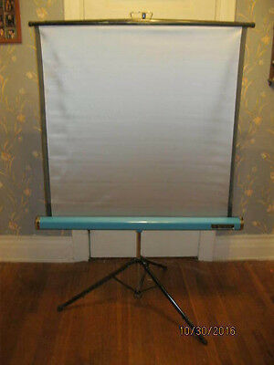 "Radiant SUPER CHAMPION 36""x38"" Movie/Slide Projector Screen FREE SHIPPING!!!"