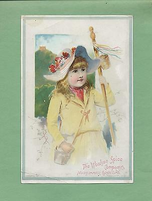 Lovely GIRL On Uns. FRANCES BRUNDAGE 1891 LION COFFEE Victorian Trade Card