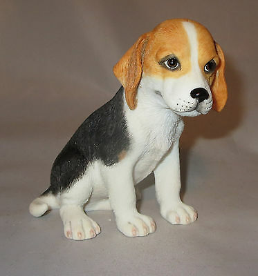 """Beagle Puppy Figurine Dog Sculpture Statue 4.25"""" High Pets Dogs New in Box"""