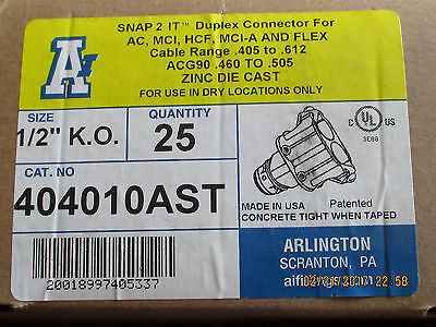 LOT OF 25 -- **SNAP 2  IT   -- 3/8 DUPLEX Connector -- New In Box