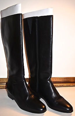 Women's Naturalizer Cheetah Black Knee High Leather Boots Size 9B