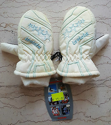 INVICTA fluo vintage muffole guanti NOS gloves ski bebè padded muffol thermor