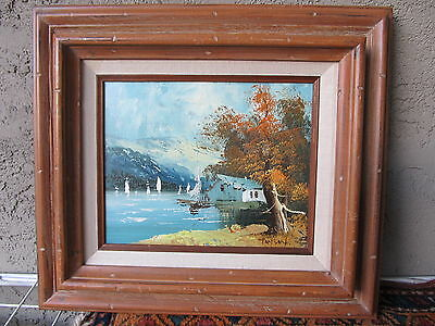 TOMSON. Framed Signed Original Oil Painting on Board