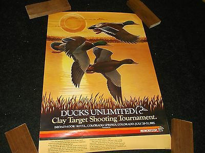 Vintage Winchester - Ducks Unlimited Advertising Poster Rare