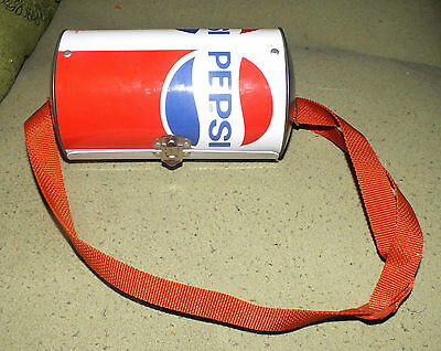 Vintage Pepsi Cola Soda Pop Can Purse Bag Case Lunchbox metal tin