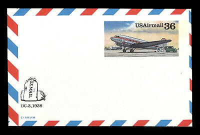 Uxc24 Mint Airmail Postal Card, Other Gov't Miscut