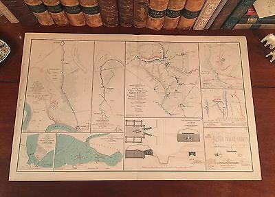 Original Antique Civil War Map BATTLE FIVE FORKS VIrginia VA Fought April 1,1865