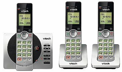 VTech DECT 6.0 Three Handset Cordless Phone with ITAD, CID, Backlit Keypads