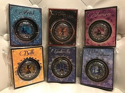 Disney Sephora Compact Mirror Set of 6 Belle,Cinderella,Frozen,Ariel,Snow,Aurora