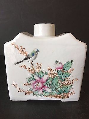 Chinese Antique Early 20Th Century Porcelain Tea Caddy Chinese Marked
