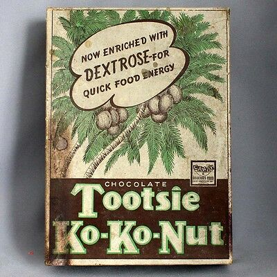 Antique Vintage Advertising TOOTSIE KO-KO-NUT CANDY BOX Sweets Co. of America