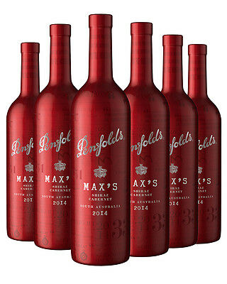 6 PACK - Penfolds Max's Carbernet (Red Sleeve) 2014