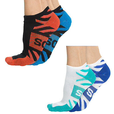 New Bonds Mens Active Boost Low Cut  Sock 2 Pack Sports Low Cut Running Ankle