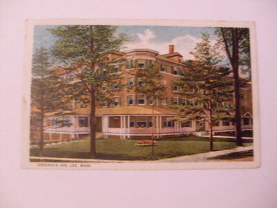 1923 Greencock Inn Hotel In Lee Massachusetts MA Postcard y5903