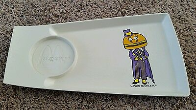 Vintage 1970's McDonald's Serving Tray, Mayor McCheese,  Excellent