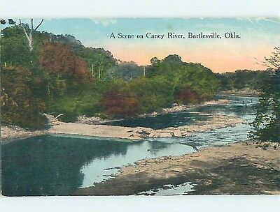 Divided-Back WATER SCENE Bartlesville Oklahoma OK hk2961
