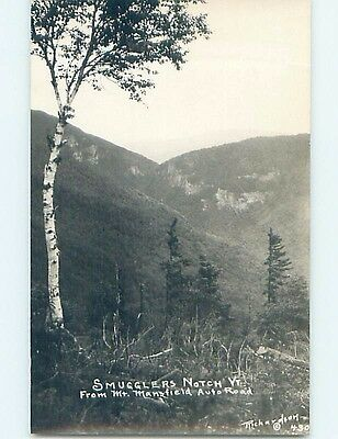 Old rppc MANSFIELD ROAD TO SMUGGLERS NOTCH Cambridge & Jeffersonville VT HM2790