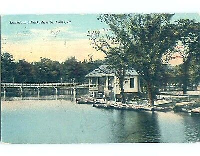 Divided-Back PARK SCENE St. Louis Illinois IL hk8346