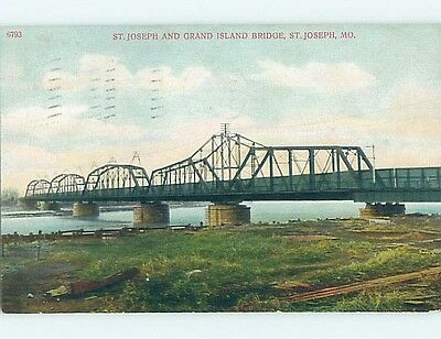 Damaged Divided-Back POSTCARD FROM St. Joseph Missouri MO HM7151