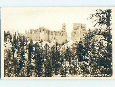 Pre-1949 rppc THE GREAT CATHEDRAL Bryce Canyon National Park Utah UT HM3324
