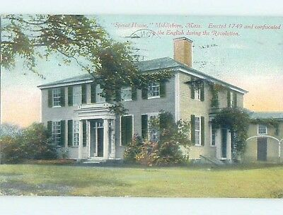 Damaged Divided-Back POSTCARD FROM Middleboro Massachusetts MA HM7913