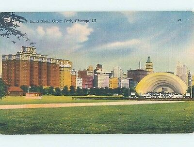 Unused Linen BANDSHELL AT GRANT PARK Chicago Illinois IL hk6622-13