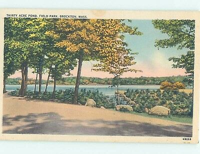 Unused Linen FIELD PARK Brockton Massachusetts MA HM8966