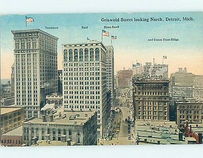 Unused Divided-Back POSTCARD FROM Detroit Michigan MI HM5720
