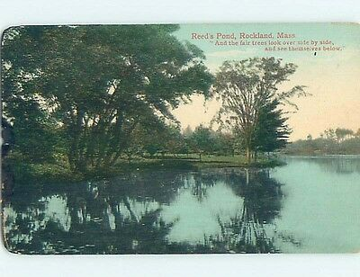 Divided-Back POSTCARD FROM Rockland Massachusetts MA HM7121