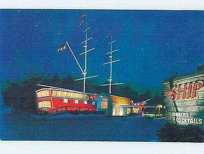 Unused Pre-1980 RESTAURANT SCENE Lynnfield Massachusetts MA hk4190