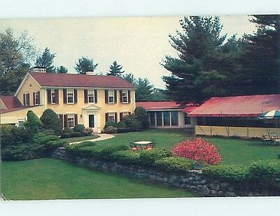 Unused Pre-1980 RESTAURANT SCENE Foxboro Massachusetts MA hk4450
