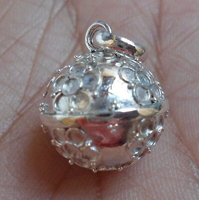 CRAZY SALE-925 Sterling Silver Balinese Chime Ball Pendant-14MM