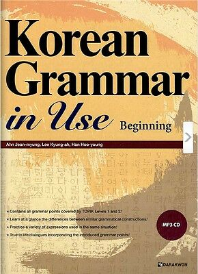 Korean Grammar in Use Text Book MP3 CD English Version Study Beginning Kpop