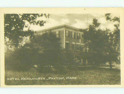 Unused 1940's KENILWORTH HOTEL Paxton Massachusetts MA hr9997-23