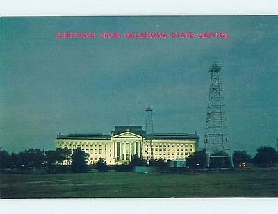 Unused Pre-1980 STATE CAPITOL Oklahoma City OK hn3473-12