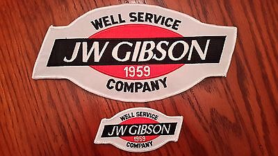 Oilfield Embroidered Patch - 2 JW Gibson Well Service Company Patches!