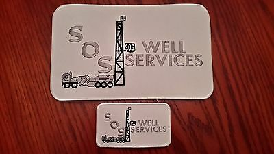 Oilfield Embroidered Patch - 2 SOS Well Services Patches!