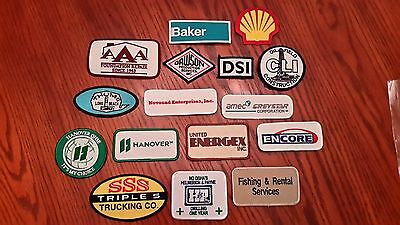 Oilfield Embroidered Patch -  Group of 16 Small Patches (Group 4)!