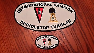 Oilfield Embroidered Patches-2 International Hammer Spindletop Tubular Patches!