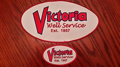 Oilfield Embroidered Patch - 2 Victoria Well Services Patches!