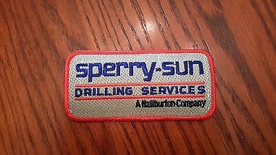 Oilfield Embroidered Patches - Sperry Sun A Halliburton Company