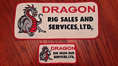 Oilfield Embroidered Patches -  2 Dragon Rig Sales & Services,LTD Patches!
