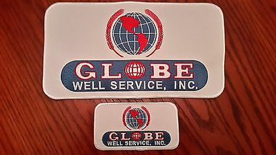 Oilfield Embroidered Patch - 2 Globe Well Service, Inc. Patches!