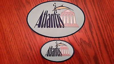Oilfield Embroidered Patches - 2 Atlantis Patches!