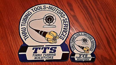 Oilfield Embroidered Patch Set -  Thru Tubing Solutions -  Older Logo