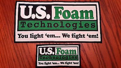 Oilfield Embroidered Patches - 2 US Foam Technologies Patches!