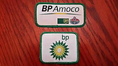 Oilfield Embroidered Patches - BP and BP Amoco - 2 Patches