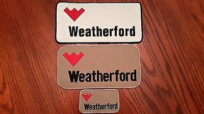 Oilfield Embroidered Patch Set -  Weatherford Grouping - 3 Patches!